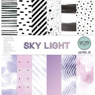 Set 12 papeles doble cara Sweet Möma - Sky Light