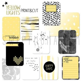 Tarjetas Project life Digital – Yellow Lights (ESP)
