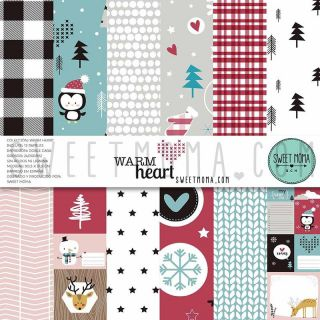 Set 12 papeles doble cara Sweet Möma - Warm Heart