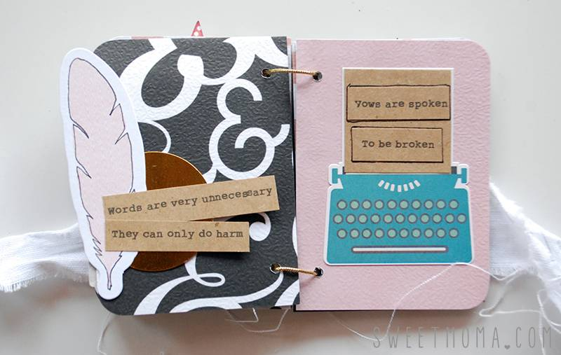 Tutorial Scrapbooking: Mini Musical 6
