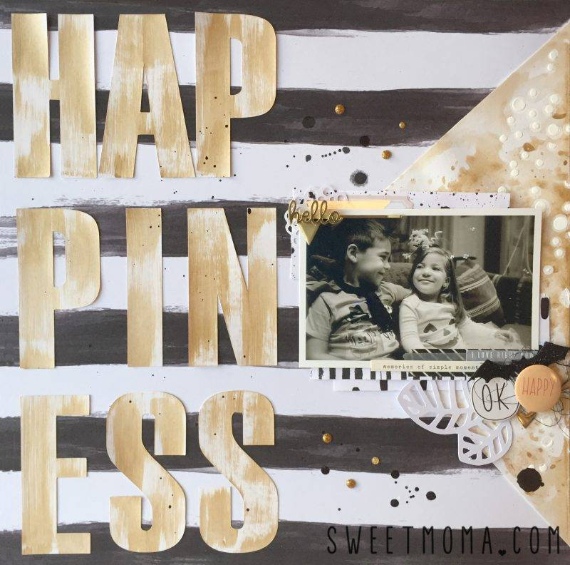 Layout de scrapbooking Happiness 7