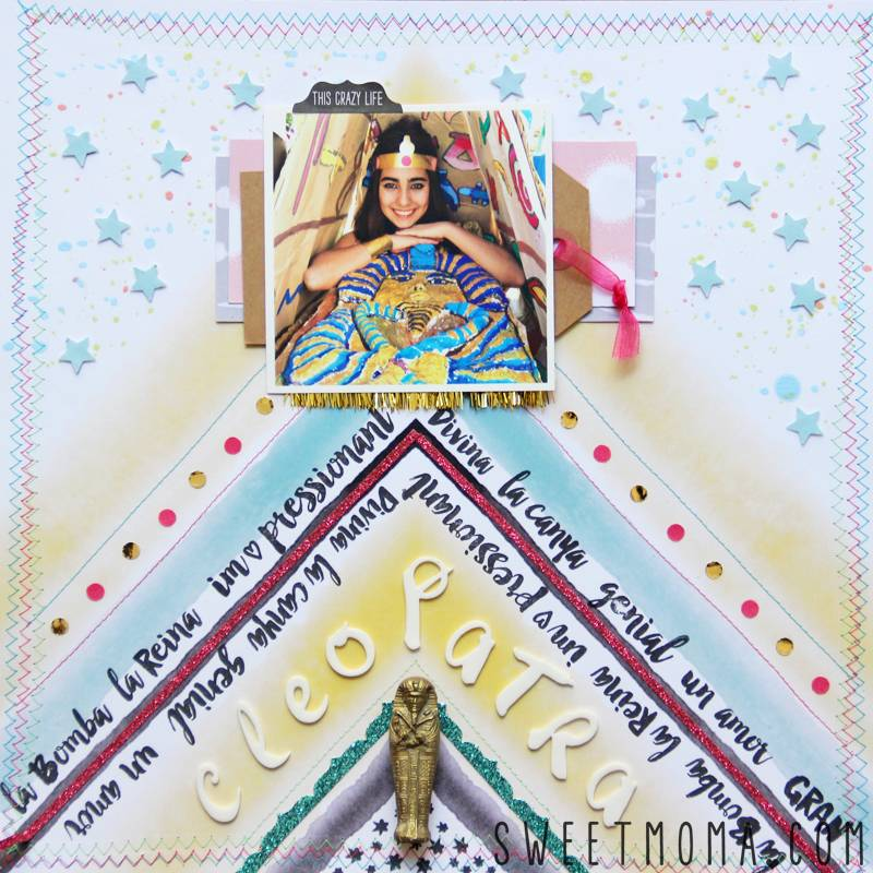 Scrapbooking Layout: Cleopatra 1