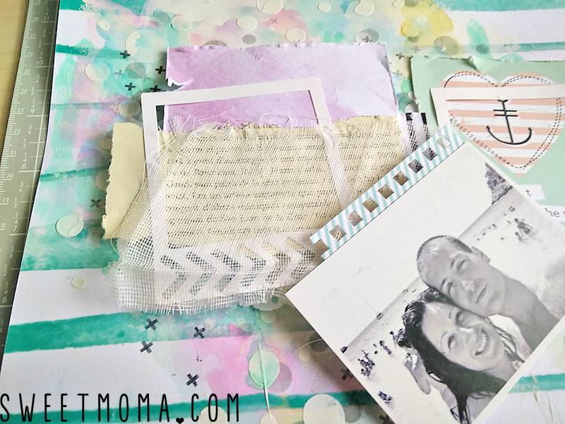 "Tutorial: Layout Mixed Media ""Best Ever"" (Paso a Paso) 13"