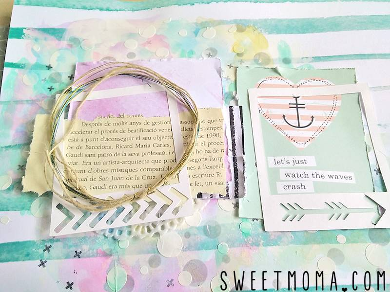 "Tutorial: Layout Mixed Media ""Best Ever"" (Paso a Paso) 16"