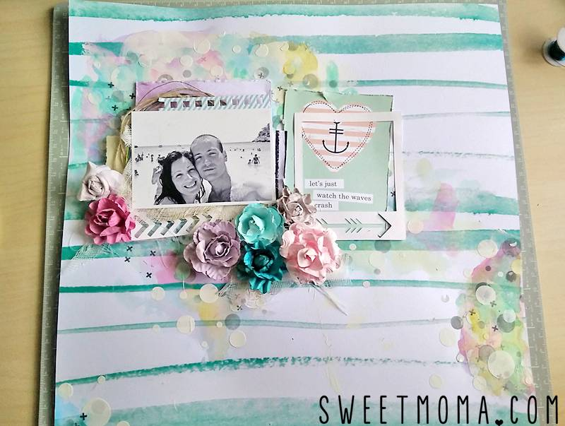 "Tutorial: Layout Mixed Media ""Best Ever"" (Paso a Paso) 18"