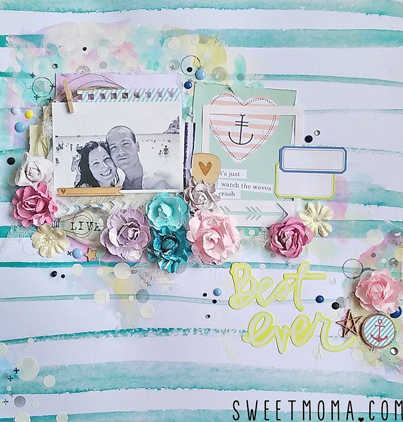 "Tutorial: Layout Mixed Media ""Best Ever"" (Paso a Paso) 20"