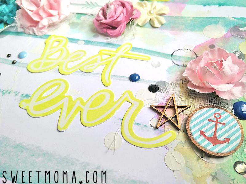 "Tutorial: Layout Mixed Media ""Best Ever"" (Paso a Paso) 22"
