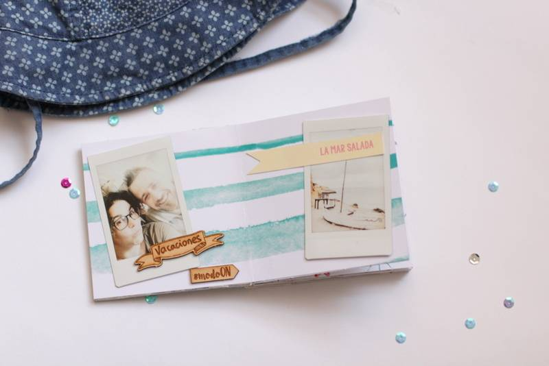 Tutorial Scrapbooking: Mini Álbum Ibiza 16