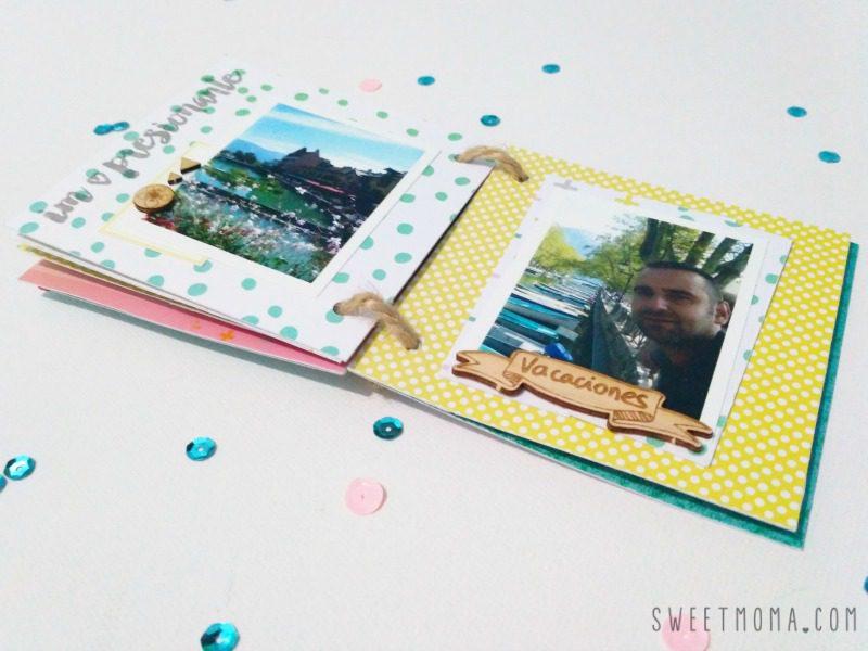 Mini álbum de verano, layout de otoño 8