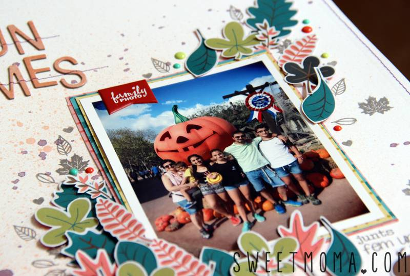 Tutorial: Página de Scrapbooking Fun Times 4