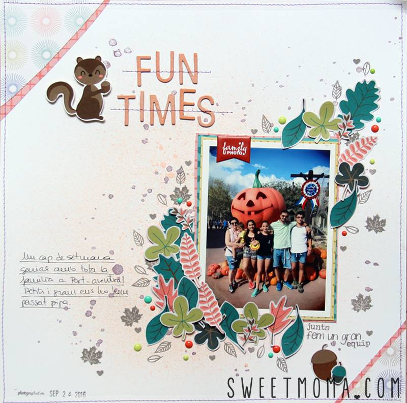 Tutorial: Página de Scrapbooking Fun Times 6