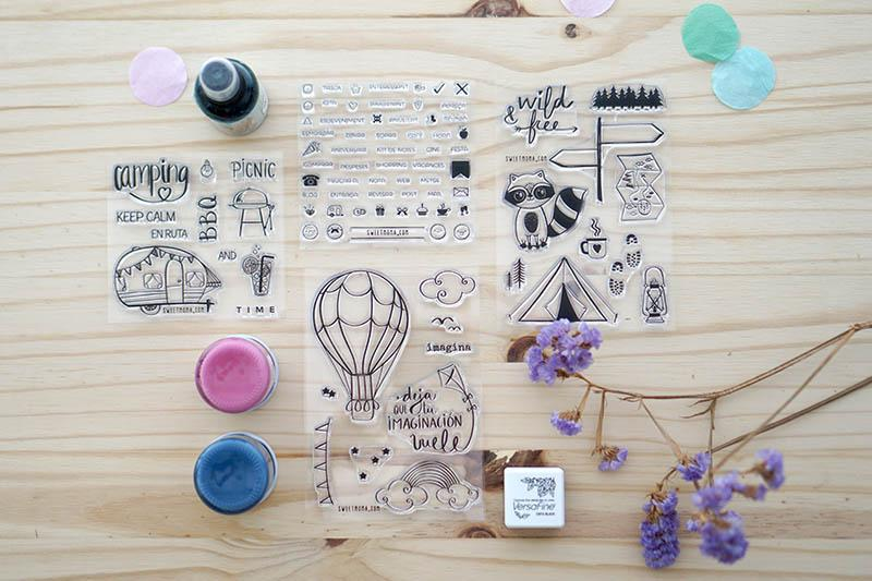 Stickers, sellos acrílicos y chapas de verano. Nueva colección de verano. 1