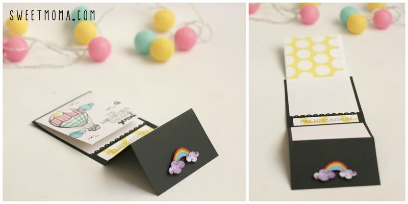 Tutorial: Tarjeta con Paper Piecing Stamping 6