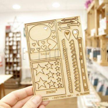 Siluetas de madera Sweet Möma - Polaroid