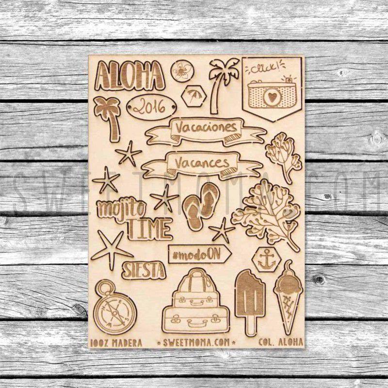 Siluetas de madera Sweet Möma - Aloha