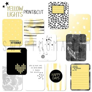 Tarjetas Project life Digital – Yellow Lights (CAT)