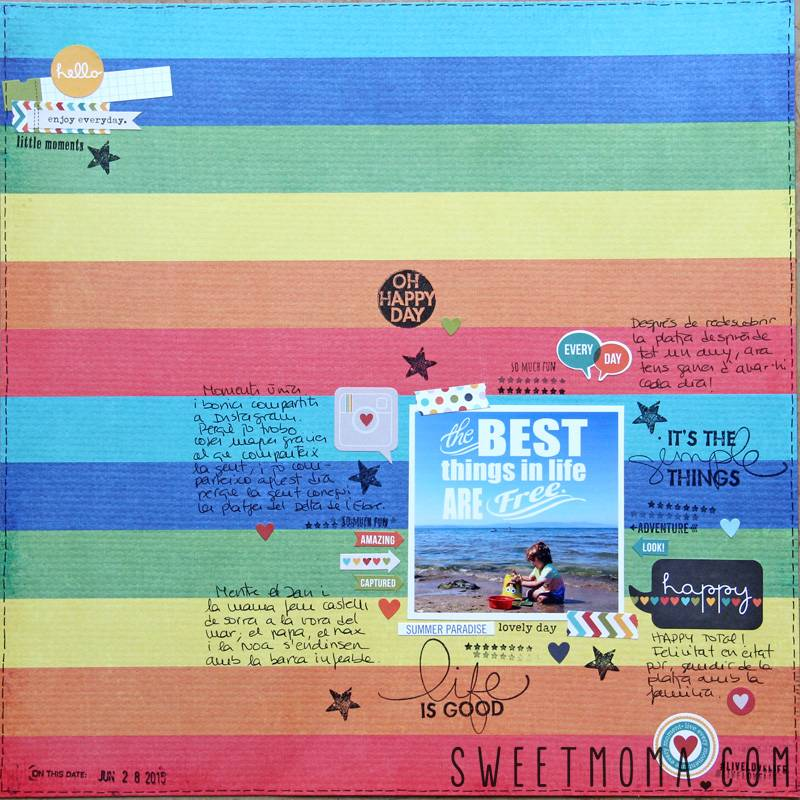 Layout De Scrapbooking: Best Things in Life Are Free 2