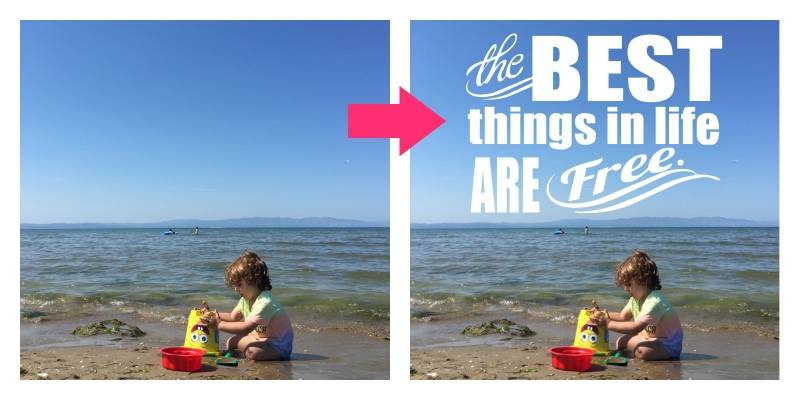 Layout De Scrapbooking: Best Things in Life Are Free 3