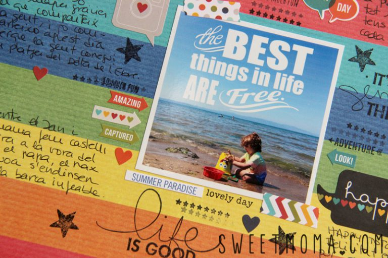Layout De Scrapbooking: Best Things in Life Are Free
