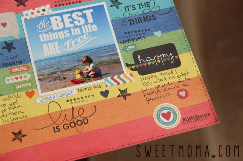 Layout De Scrapbooking: Best Things in Life Are Free 5