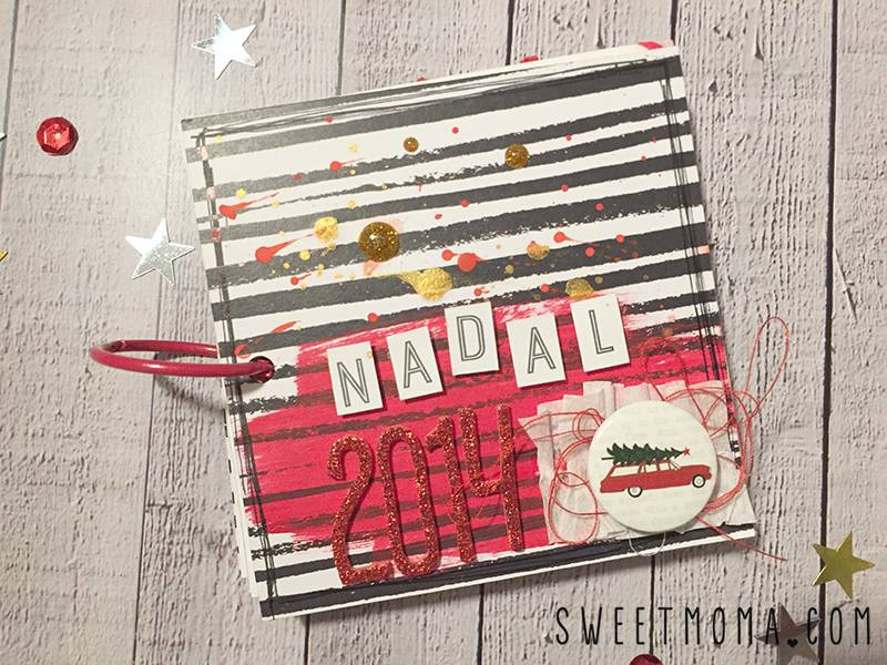 Tutorial de Scrapbook: Mini Álbum Decorado con Sellos 14
