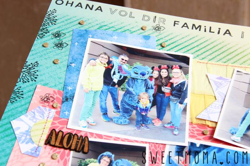 Scrapbooking Layout: We Love Stitch 3