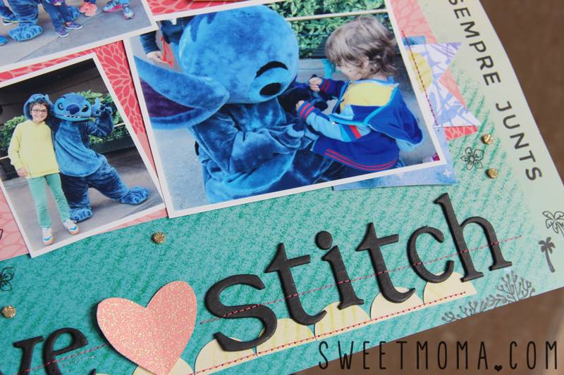 Scrapbooking Layout: We Love Stitch 4