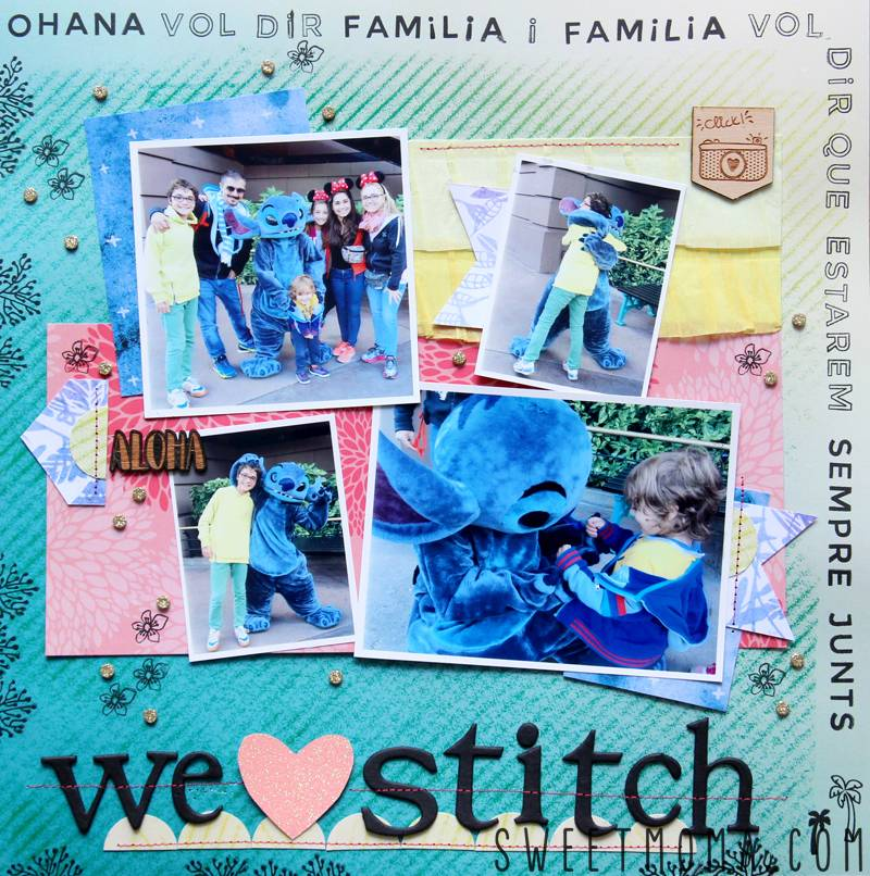 Scrapbooking Layout: We Love Stitch 1