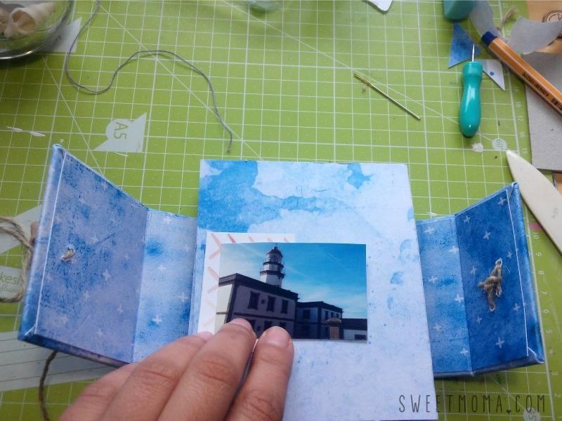 Tutorial: Original Mini Álbum con Conchas 13