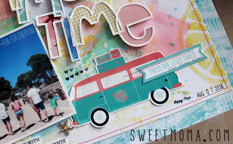 Página de scrapbooking: Summertime 4