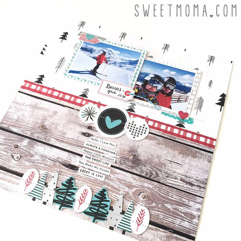 Layout de invierno con Warm heart 7