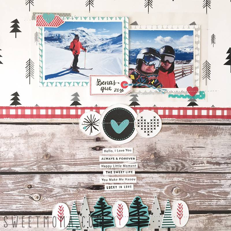 Layout de invierno con Warm heart 8
