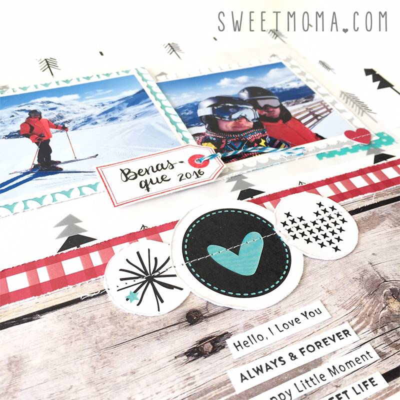 Layout de invierno con Warm heart 9