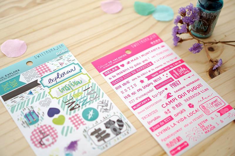 Stickers, sellos acrílicos y chapas de verano. Nueva colección de verano. 4