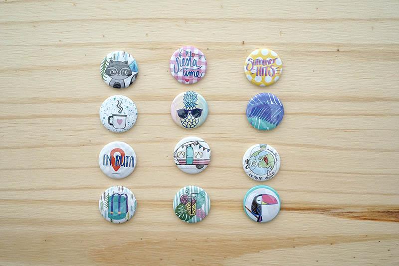 Stickers, sellos acrílicos y chapas de verano. Nueva colección de verano. 6