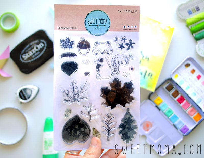 Tutorial Sobre Snail Mail Sellos Sweet Fall y Acuarelas 5
