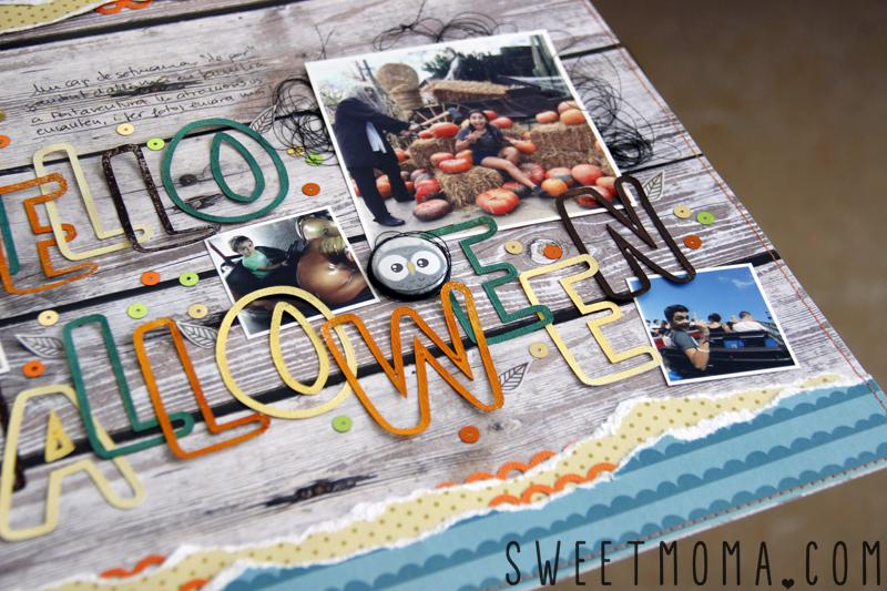 Tutorial Layout Halloween Scrapbooking con Sweet Möma Nut House 2