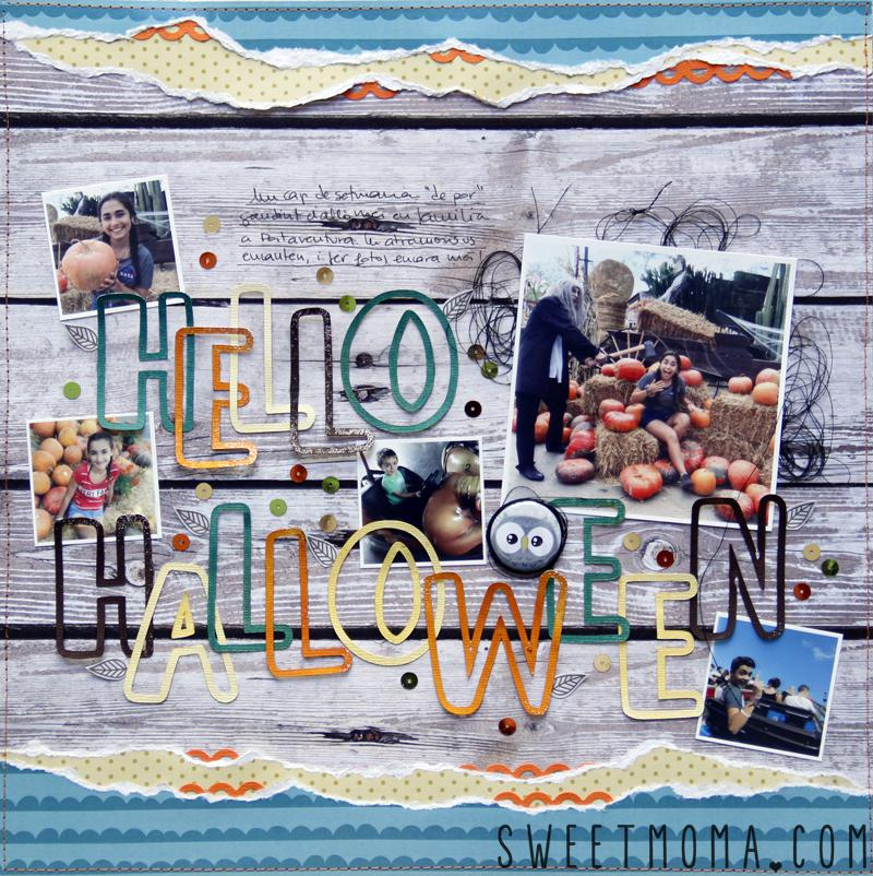 Tutorial Layout Halloween Scrapbooking con Sweet Möma Nut House 6