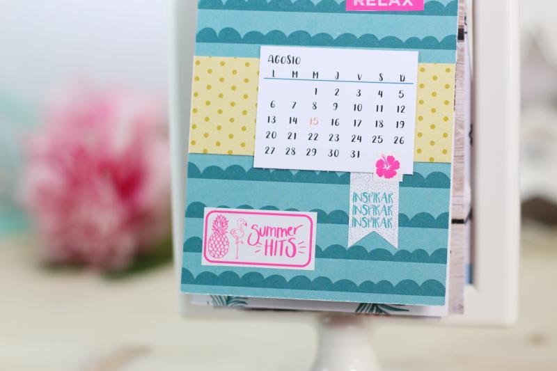 Calendario 2018 Scrapbooking DIY Sweet Moma 04