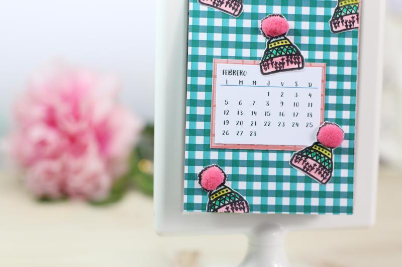 Calendario 2018 Scrapbooking DIY Sweet Moma 07