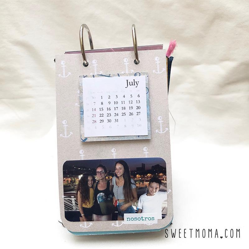 scrap Mini álbum calendario